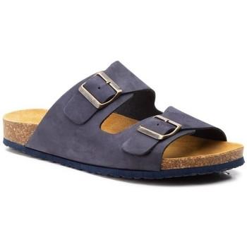 Schoenen Heren Leren slippers Morxiva Shoes Sandalias Bio de hombre de piel by Morxiva Bleu