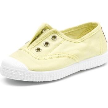 Schoenen Kinderen Tennis Cienta Chaussures en toiles  Tintado jaune pastel