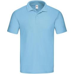 Textiel Heren Polo's korte mouwen Fruit Of The Loom SS229 Hemelsblauw