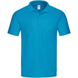 Textiel Heren Polo's korte mouwen Fruit Of The Loom SS229 Azuurblauw