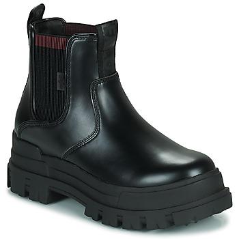 Schoenen Dames Laarzen Buffalo ASPHA CHELSEA Zwart