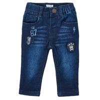 Textiel Jongens Straight jeans Ikks ACIER Blauw / Donker