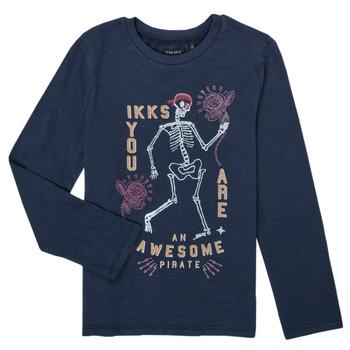 Textiel Jongens T-shirts met lange mouwen Ikks PRUNE Marine