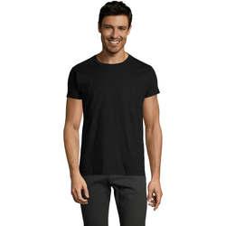 Textiel Heren T-shirts korte mouwen Sols Camiseta IMPERIAL FIT color Negro Negro