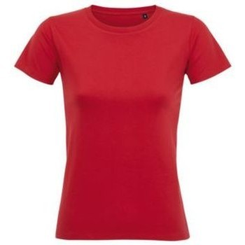 Textiel Dames T-shirts korte mouwen Sols Camiseta IMPERIAL FIT color Rojo Rojo