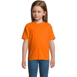 Textiel Kinderen T-shirts korte mouwen Sols Camista infantil color Naranja Naranja