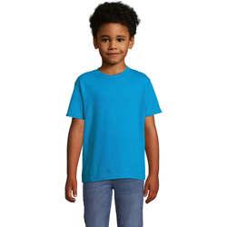 Textiel Kinderen T-shirts korte mouwen Sols Camista infantil color Aqua Azul