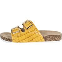 Schoenen Dames Leren slippers Laura Biagiotti 6856 Mustard