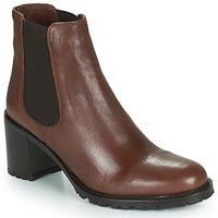 Schoenen Dames Enkellaarzen Minelli PETRINA Brown
