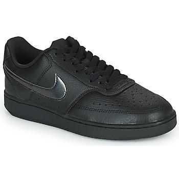 Schoenen Dames Lage sneakers Nike WMNS NIKE COURT VISION LOW Zwart