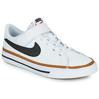 Schoenen Kinderen Lage sneakers Nike NIKE COURT LEGACY (PSV) Wit / Zwart
