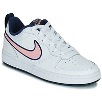Schoenen Kinderen Lage sneakers Nike COURT BOROUGH LOW 2 SE1 (GS) Wit / Roze