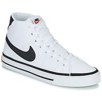 Schoenen Heren Hoge sneakers Nike NIKE COURT LEGACY CNVS MID Wit / Zwart