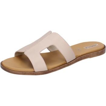 Schoenen Dames Leren slippers Tredy's BH91 Beige