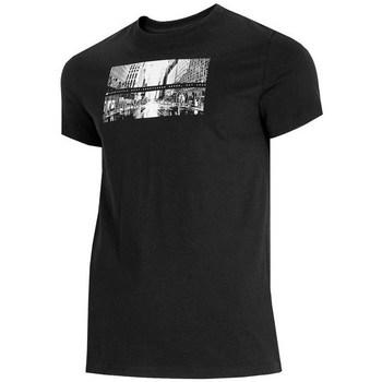 Textiel Heren T-shirts korte mouwen 4F TSM025 Noir