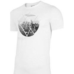 Textiel Heren T-shirts korte mouwen 4F TSM023 Blanc