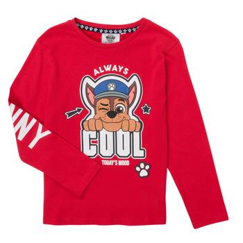 Textiel Jongens T-shirts met lange mouwen TEAM HEROES  TEE PAW PATROL Rood