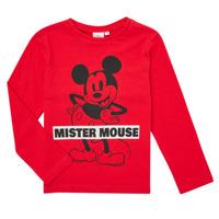 Textiel Jongens T-shirts met lange mouwen TEAM HEROES  TEE MICKEY Rood