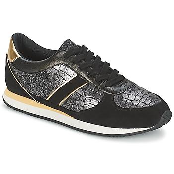 Schoenen Dames Lage sneakers Balsamik LILA Zwart / Goud