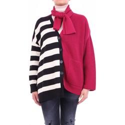 Textiel Dames Vesten / Cardigans Semicouture W0SS0WG06 Bordeaux et noir