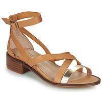 Schoenen Dames Sandalen / Open schoenen Casual Attitude COUTIL  camel / Goud