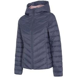 Textiel Dames Dons gevoerde jassen 4F KUDP004 Bleu marine