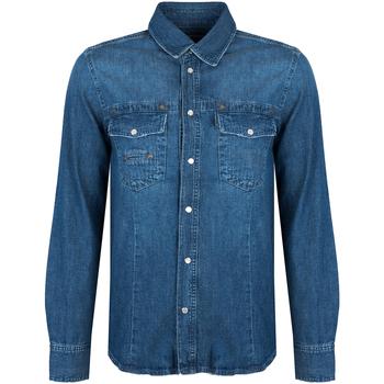 Textiel Heren Overhemden lange mouwen Bikkembergs  Blauw