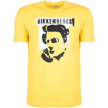 Textiel Heren T-shirts korte mouwen Bikkembergs  Geel