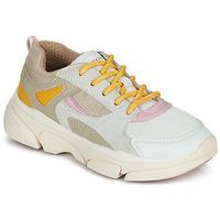 Schoenen Meisjes Lage sneakers Geox J LUNARE GIRL Beige