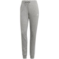 Textiel Dames Trainingsbroeken adidas Originals Pantalon femme  Essentials French Terry 3-Bandes gris chiné/blanc