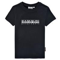 Textiel Jongens T-shirts korte mouwen Napapijri S-BOX SS Zwart