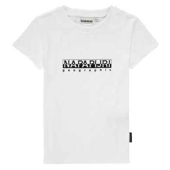 Textiel Jongens T-shirts korte mouwen Napapijri S-BOX SS Wit