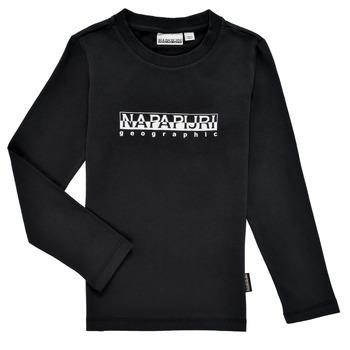 Textiel Jongens T-shirts met lange mouwen Napapijri S-BOX LS Zwart