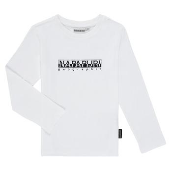 Textiel Jongens T-shirts met lange mouwen Napapijri S-BOX LS Wit