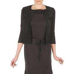 Textiel Dames Vesten / Cardigans Majestic BERENICE Zwart