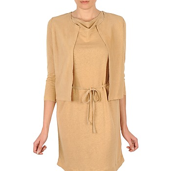 Textiel Dames Vesten / Cardigans Majestic BERENICE Beige