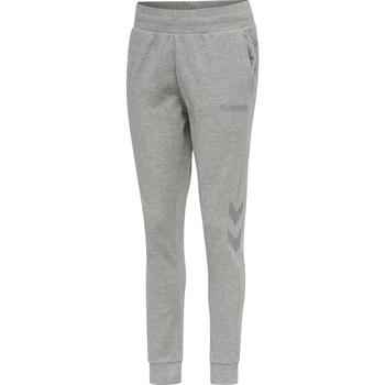 Textiel Dames Trainingsbroeken Hummel Pantalon femme  hmlLEGACY tapered gris