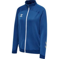 Textiel Dames Trainings jassen Hummel Veste zippée femme  hmlLEAD poly bleu