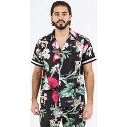Textiel Heren Overhemden korte mouwen Sixth June Chemise  tropical noir