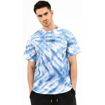 Textiel Heren T-shirts korte mouwen Sixth June T-shirt  tie dye bleu