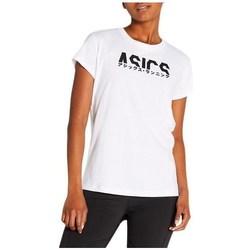 Textiel Dames T-shirts korte mouwen Asics Katakana Graphic Tee Blanc
