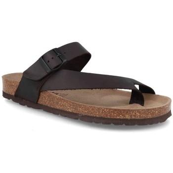Schoenen Heren Leren slippers Cbp - Conbuenpie Sandalias Bio de hombre de piel by Morxiva Marron