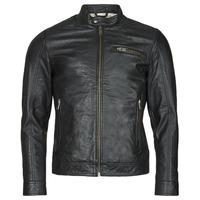 Textiel Heren Leren jas / kunstleren jas Selected SLHICONIC Zwart