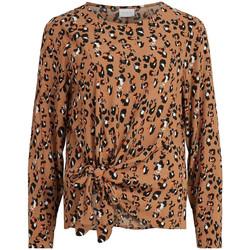 Textiel Dames Tops / Blousjes Vila  Brown