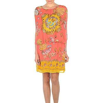 Textiel Dames Korte jurken Derhy ACCORDABLE Roze / Geel