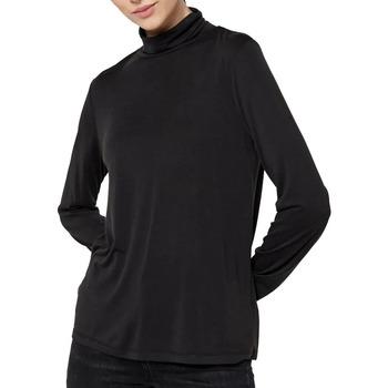 Textiel Dames T-shirts met lange mouwen Pieces  Zwart