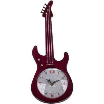 Wonen Klokken Signes Grimalt Tafelblad Clock Guitar Rojo