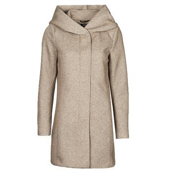 Textiel Dames Mantel jassen Only ONLSEDONA Brown