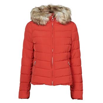 Textiel Dames Dons gevoerde jassen Only ONLNEWELLAN Rood