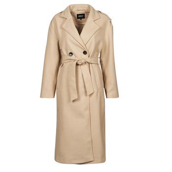 Textiel Dames Trenchcoats Only ONLEMMA Beige